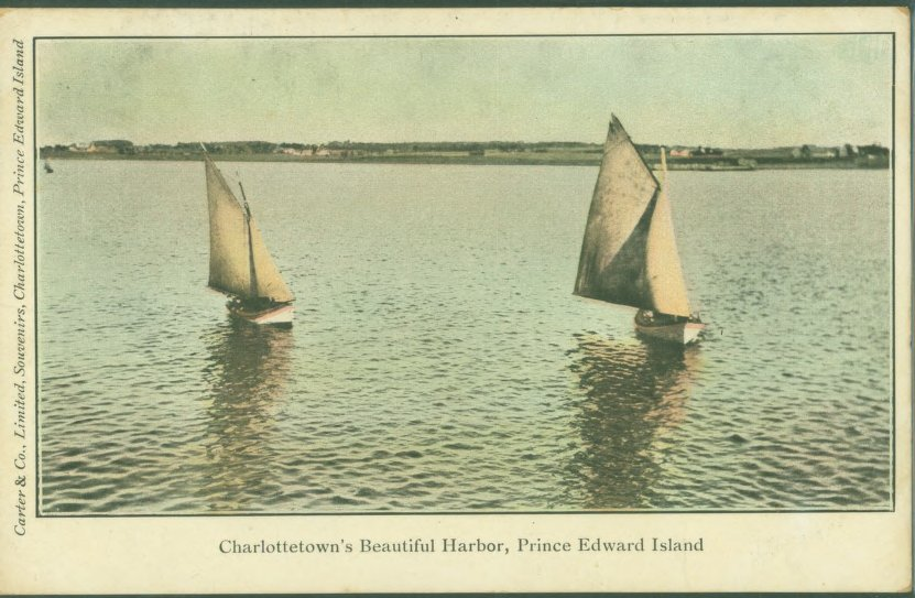 Charlottetown's Beautiful Harbour postcard