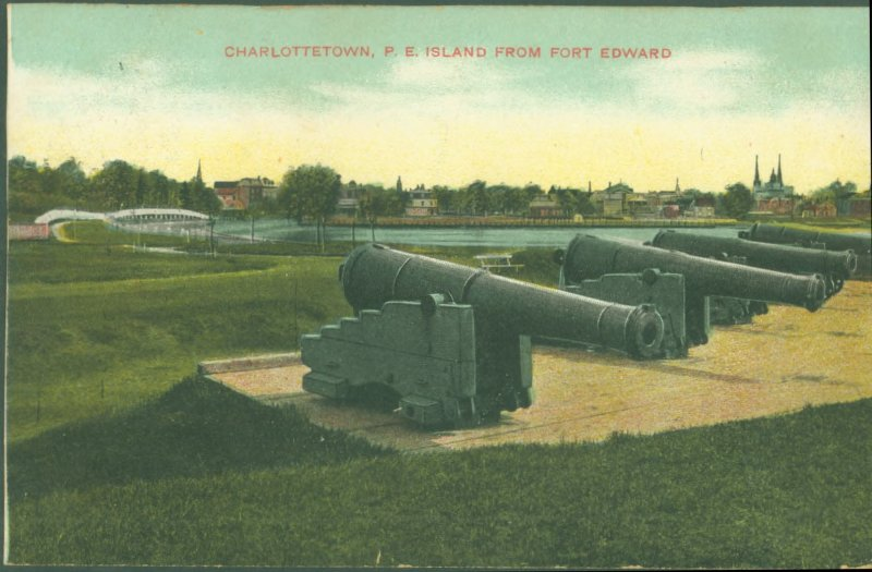 Charlottetown, P.E. Island From Fort Edward postcard