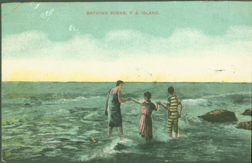 Bathing Scene, P.E. Island postcard