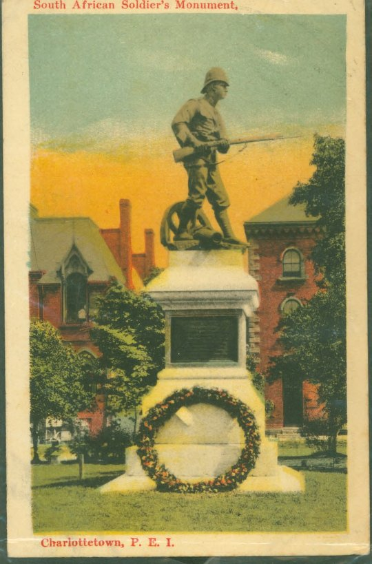 South African Soldier's Monument Postcard