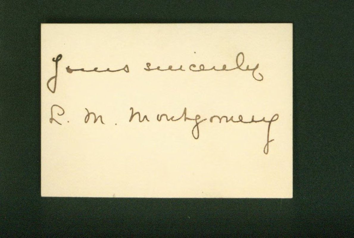 Autographed Calling Card (1917)