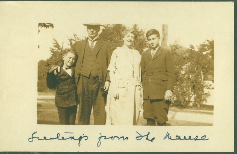 Greetings from the Manse postcard (1925)