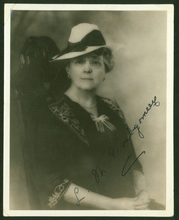 Signed Portrait of L.M. Montgomery (ca. 1935)