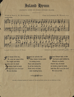 'Island Hymn' words and music, 1908 printing