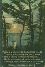 """There is a pleasure in the pathless woods""postcard."