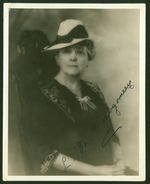 Signed portrait of L.M. Montgomery, ca. 1935